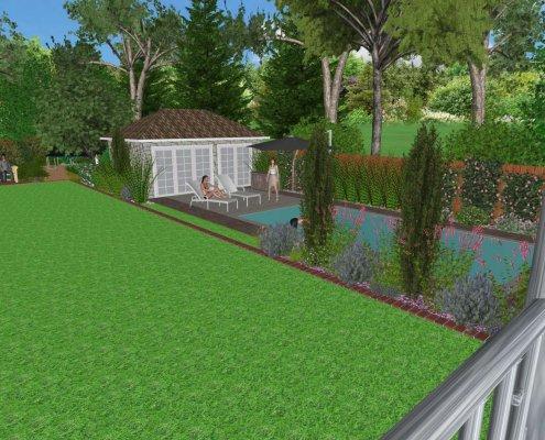 Visualisierung Garten mit Pool