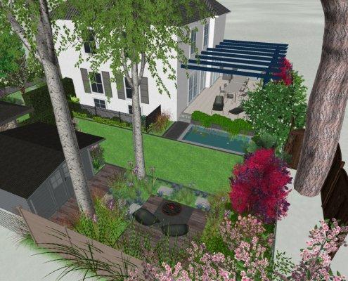 Visualisierung Gartenansicht